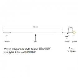 Titanium 501BM method feeder 8/0,218 przypon z gumką