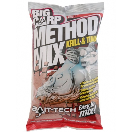 Bait-Tech Big Carp Method Mix Krill & Tuna 2kg - zanęta