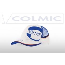 COLMIC CAPPELLO BIANCO CON RETE - Orange Series -biała czapeczka z daszkiem