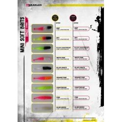 Herakles Mini Soft Baits- RINGO (65mm) kolor BLACK CHARTREUSE