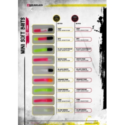 Herakles Mini Soft Baits- TAD (75mm) kolor BLACK WHITE PINK