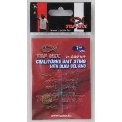 Top Mix Bait Sting With Gel Ring 7 mm - Bagnety z sylikonem do mocowania na haczyku