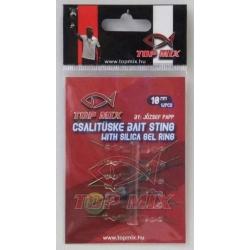 Top Mix Bait Sting With Gel Ring 10 mm - Bagnety z sylikonem do mocowania na haczyku