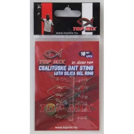 Top Mix Bait Sting With Gel Ring - Bagnecik z sylikonem do mocowania na haczyku