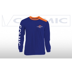 Colmic T-SHIRT LONG SLEEVES BLUE -ORANGE